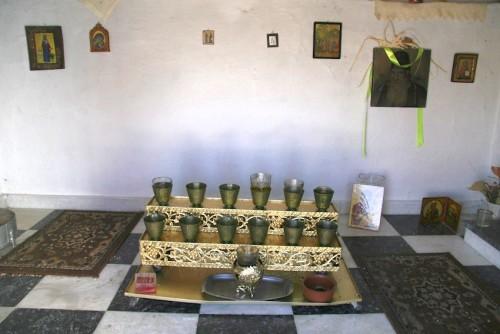 Interior de la tumba.