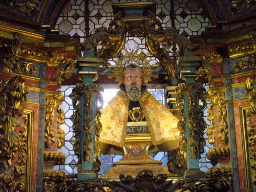 Busto relicario de San Saturio.