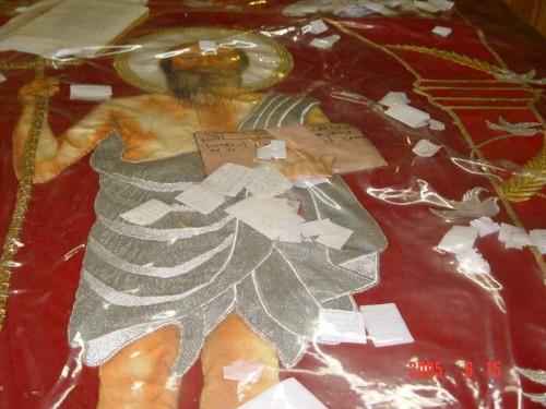 Detalle de la tumba del Santo.