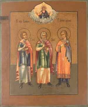 Icono ruso de los Santos.