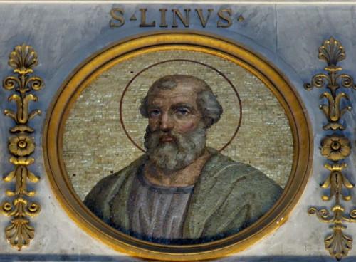 Medallón con mosaico del Santo. Basílica de San Pablo Extramuros, Roma (Italia).
