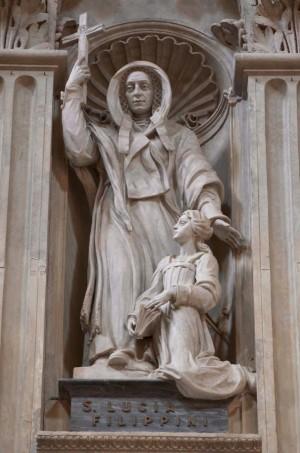 Escultura de la Santa. Basílica de San Pedro del Vaticano, Roma (Italia).