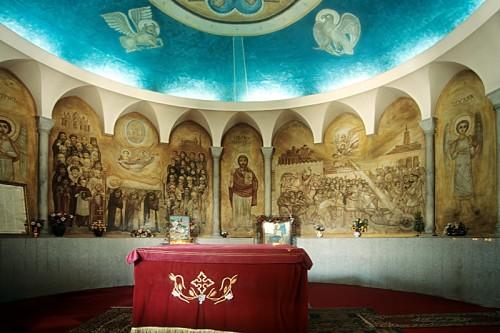 Sepulcro de San Marcos en la Catedral Patriarcal de El Cairo, Egipto.