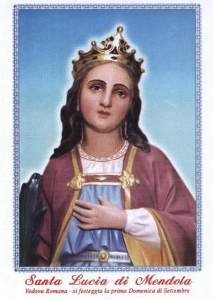 Detalle de la imagen procesional de Santa Lucía romana. Mendola, Italia.