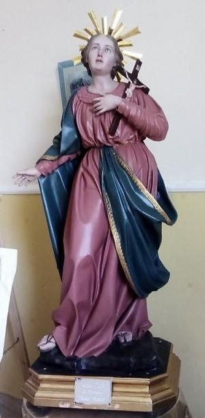 Imagen de Santa Lucía romana venerada en Mendola, Italia.