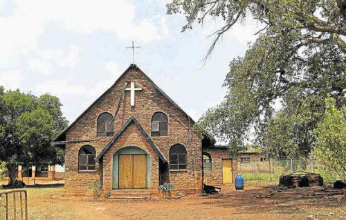 Vista de la iglesia de Nweli, Sudáfrica.