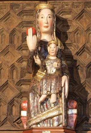 Imagen de la Virgen de la Naranja, patrona de Olocau del Rei, Castellón (España):