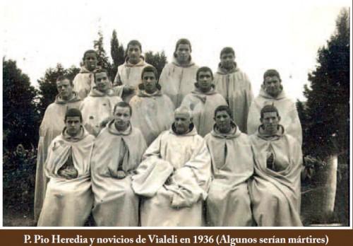 Padre Pío Heredia y algunos de los mártires.