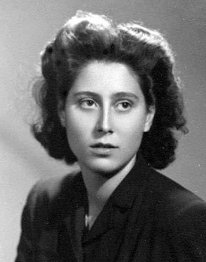 Foto de la santa en su juventud.