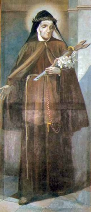 Pintura de la Santa.