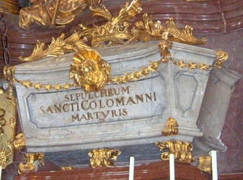 Sepulcro del santo en la abadía de Melk (Austria).