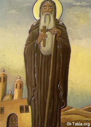 Pintura copta del Santo. Fuente: www.st.takla.org