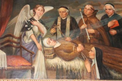 Fresco representando la muerte de la Santa. Santuario en Nápoles.