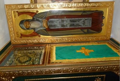 Urna de las reliquias del santo.
