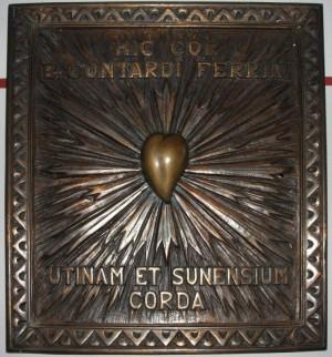 Relicario del corazón del beato. Parroquia de Santa Lucia de Suna (Verbania), Italia.