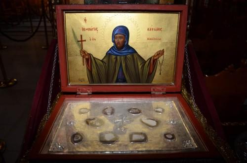 Cofre con reliquias del Santo.