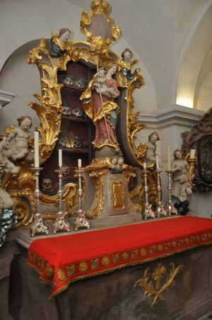 Reliquias de los Santos.