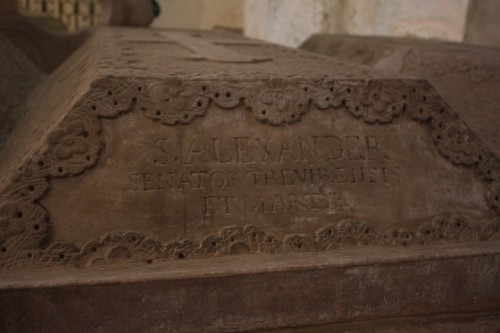 Sarcófago de San Alejandro, senador de Treveris y mártir.
