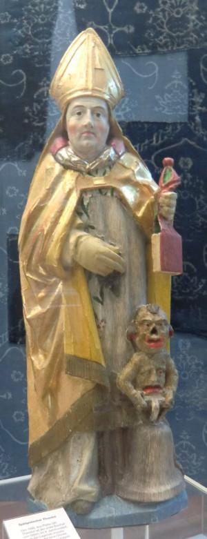 Escultura gótica en el Museo de Disentis, Suiza.