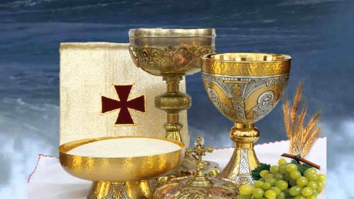 La Sagrada Eucaristía.