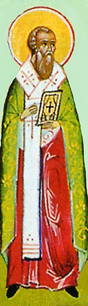 Detalle del Santo en una ilustración para el Prólogo de Ochrid.