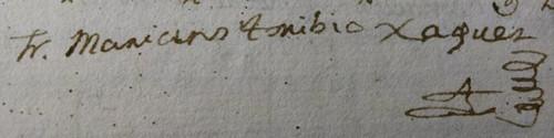 Firma de fray Mariano Toribio de Jesús  y María.
