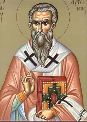 Icono ortodoxo griego de San Autónomo.