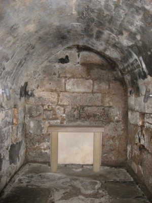 Cripta del monasterio de Hexham donde San Wilfrido depositó las reliquias traídas desde Roma.