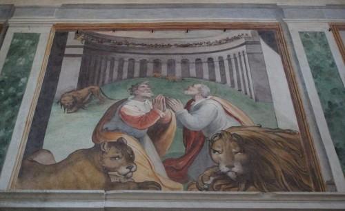 Los Santos entre las fieras. Capilla de los Santos. Iglesia de San Stefano Rotondo, Roma, Italia.