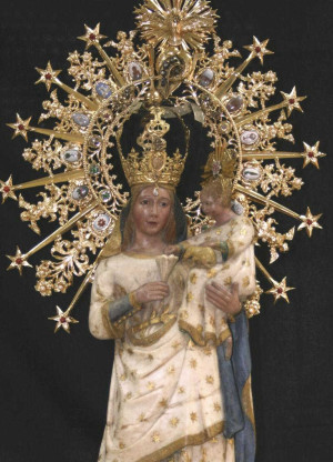 Detalle de la Virgen del Castillo.