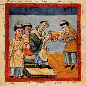 El Santo ante el papa Gregorio IV.