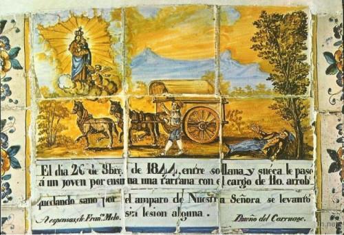 Exvoto cerámico a la Virgen del Castillo.
