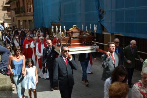 Procesión en Nájera (La Rioja) de las reliquias de los Santos Juan, Ciro y Antígono, mártires de las catacumbas.
