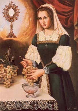 Lienzo-retrato de la Sierva de Dios.