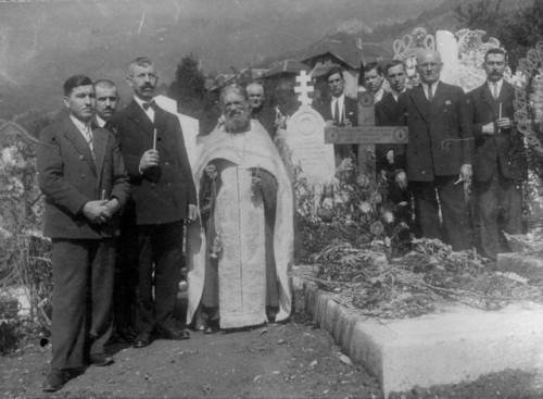 Foto durante un servicio fúnebre