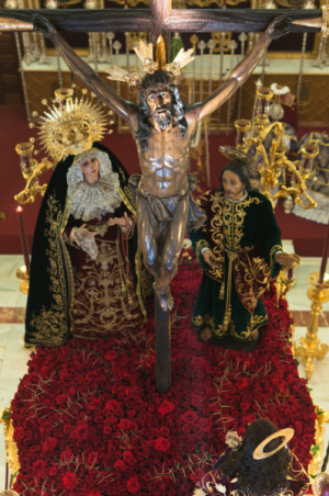 Cristo de la Expiración. Semana Santa de Huelva, España.