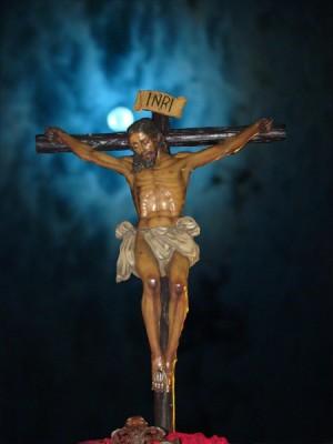 Cristo de la Buena Muerte. Semana Santa de Huelva, España.