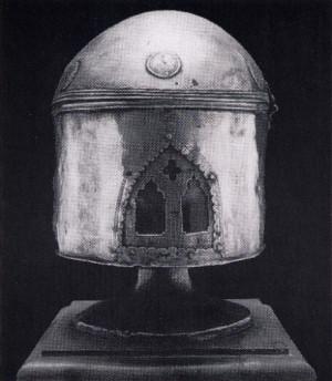 Relicario del cráneo del Santo en Termoli, Italia.
