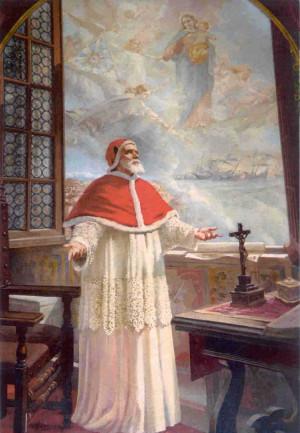 Lienzo contemporáneo del Santo.