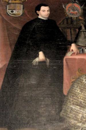 Retrato del Protector del Templo, el Padre Gregorio Pérez.