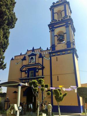 Templo de San Juan Aquiahuac, San Andrés Cholula, Puebla (México).