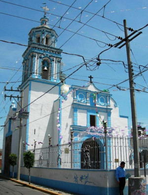 Templo de Santa María Cuaco, San Andrés Cholula, México.