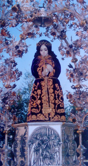 Imagen procesional de San Cristobalito de la Guardia.