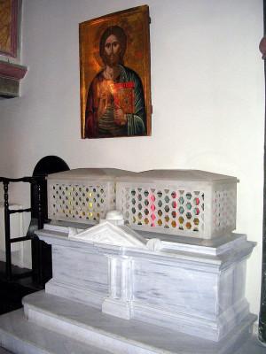 Reliquias del Santo en el Patriarcado Ecuménico, El Fanar, Estambul (Turquía).